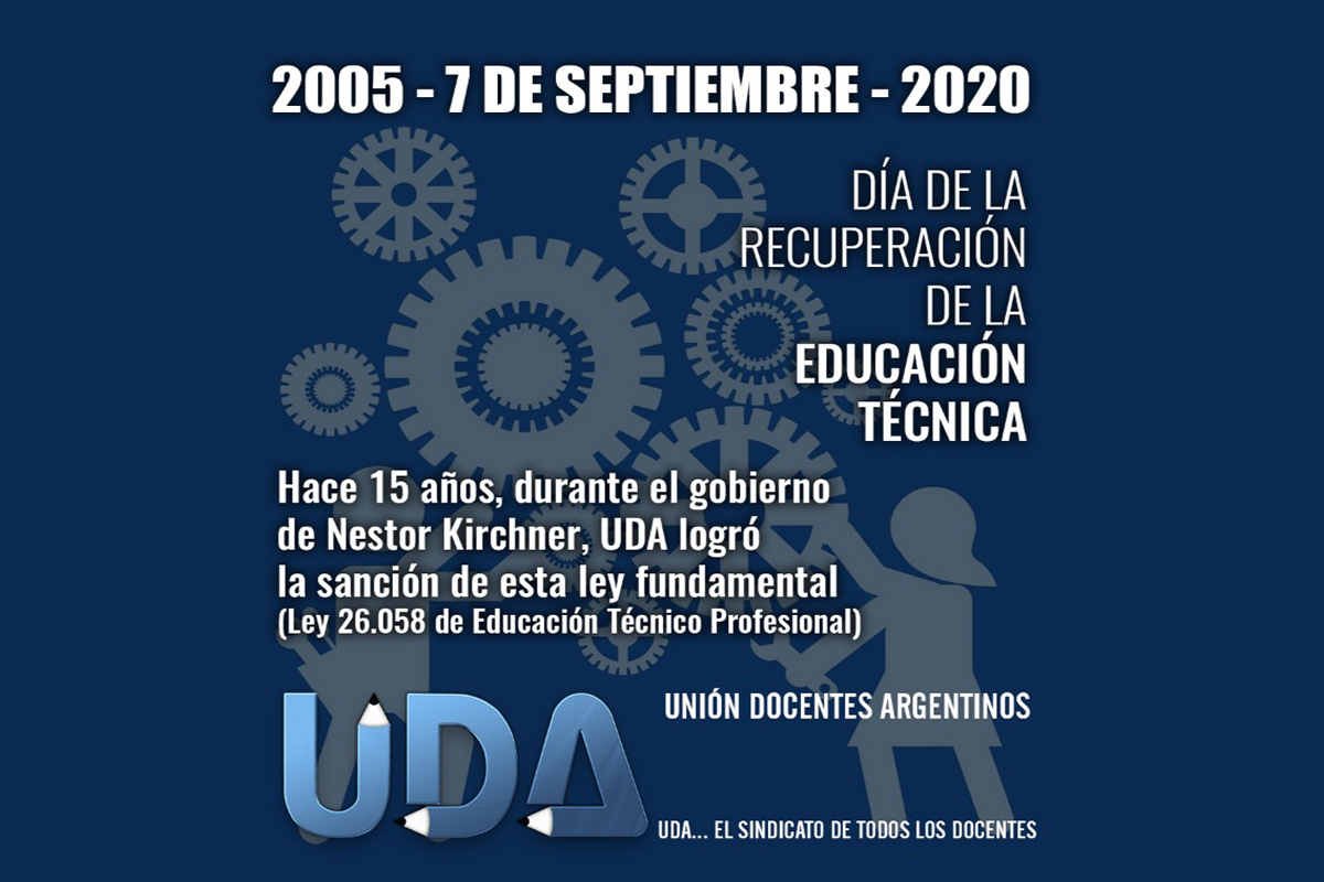2005 - 7 de septiembre - 2020 | Día de la recuperación de la Educación Técnica